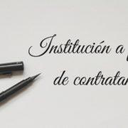 INSTITUCIÓN A FAVOR DE CONTRATANTE